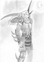 Kain_spiky_armor_sketch by sangwiss16