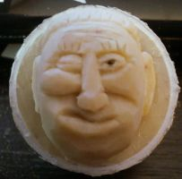 Heres winking at you.. Another Carved Golfball. by Des804