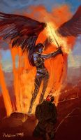 Angel of punishment by Hellstern