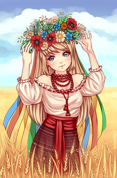 Girl with a Wreath by Nukababe