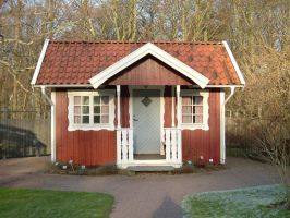 Swedish Red Cottage by ThymeStock