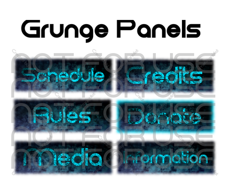Twitch Panels - Grunge Headers by somefriggnidiot