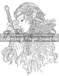 Art of Meadowhaven Coloring Page: Warrior by Saimain