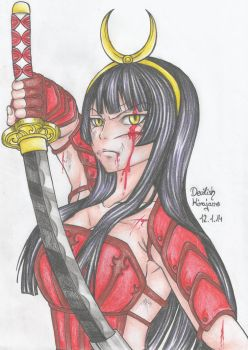 Kagura unsheathes her sword?? by DevilishMirajane