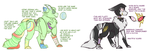 PW - YY and NT Art Notes - OCs by Wishing-Well-Artist