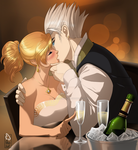 Beyond the Flames: Champagne Kiss by VelvetPersona