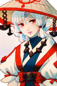 botw -- Impa circa 100 years ago by onisuu