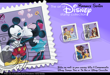 Disney Stamps- Romance by imwalkingwithaghost