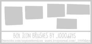 Icon Box Brushes by clayla919
