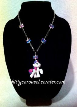 My little pony Rarity necklace simple by shuiichibrie