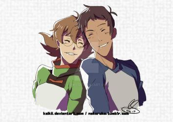 Pidge and Lance quick doodle by Koikii