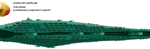 Union-Dirge Joint Charbydis Class Battleship by EmperorMyric