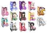 Monogatari Series - 13 Icon Pack [.RAR] by Dalathan-icons