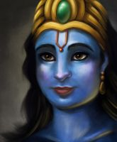 Portrait of Vishnu by SofieGraham