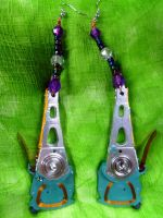 Hard drive actuator arm computer Earrings by JeanC38