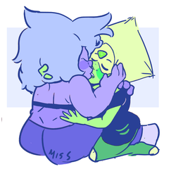 everytime i draw them kissing it looks the same by MissPolycysticOvary