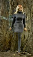 Smoky Grey Knit Dress by rrspence2002