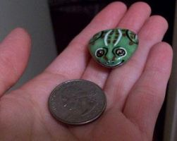 Little hand painted frog rock by TinyAna