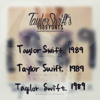 Taylor Swift 1989 // FONTS by FranceEditions