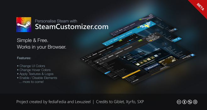 SteamCustomizer.com - Beta 1 by fediaFedia