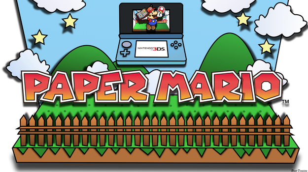 Paper Mario for 3DS Wallpaper by BrentDennison