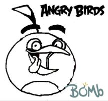 Toons Bomb Coloring Page By ANGRYBIRDSTIFF