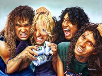Slayer Reign in blood painting poster by SpirosSoutsos
