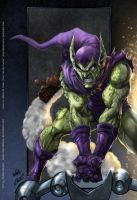 Green Goblin colors by aladecuervo