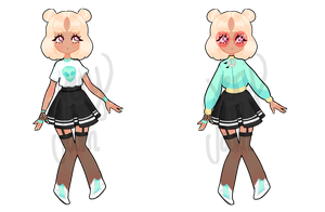 Green N Bright || ADOPTABLE CLOSED || by VeryYamYam