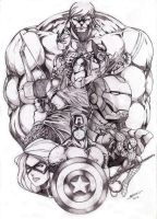AVENGERS ASSEMBLE by Badong09