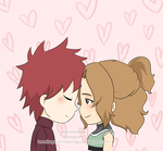 Gaara and Hikari  GaaHika Chibi Love by Teardrops-onmywings