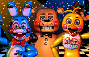 FNaF 2 - Toys Time!! [Blender Poster] by ChuizaProductions