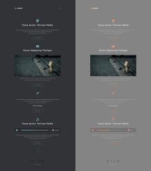 Cream Personal Web Template Free .PSD by emrah-demirag