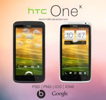 HTC One X: PSD | PNG | ICO | ICNS by davinci1993