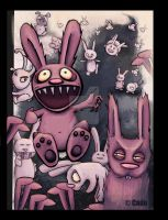 Attack of the Pink Bunnies by Cado