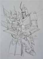 Static and Cyclonus PC by ProphetofPrimes