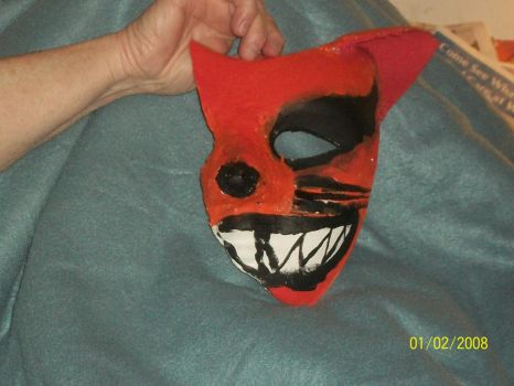 finished product of my kyuubi half mask by Orbit16