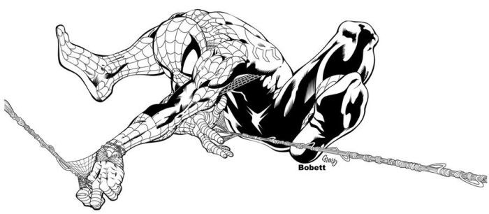 spiderman by bobett inked by gz12wk