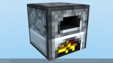 Minecraft Furnace Model by CraftDAnimation