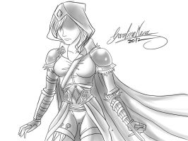 doodle assassin creed girl by Jauntymania