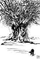 giant tree vampire hunter D by blackbeat