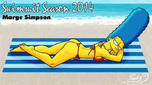 Swimsuit Season 2014: Marge Simpson by Chesty-Larue-Art