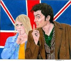 The Doctor and Rose sshhh by rori77