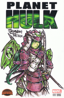 Samurai She-Hulk Sketch Cover by bulletproofturtleman