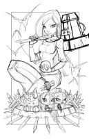 Commish 109 WIP 02 by RobDuenas