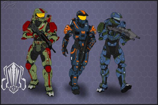Halo Ammunition: Fire Team QUIVER (Base Colors) by Guyver89