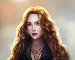 Scarlet Witch Portrait by TinyTruc