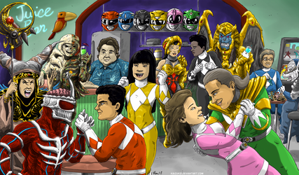 Mighty Morphin Anniversary!  Commission by KaijuKid