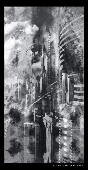 City of Ascent -blacknwhite- by badfinger