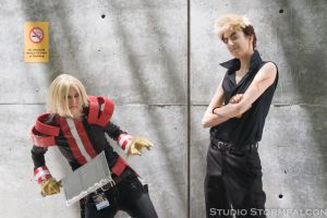 Viral and Kittan by Stormfalcon